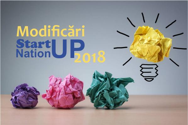 Afla care sunt principalele modificari ale programului Start-up Nation 2018